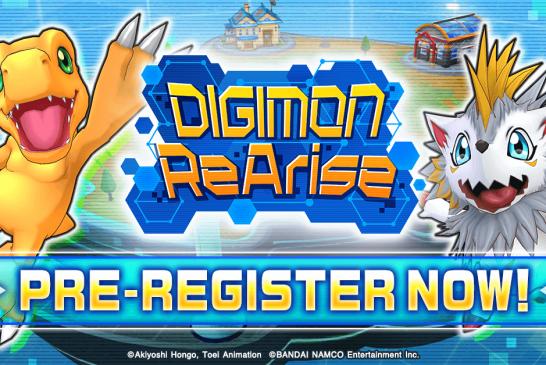 ¡Inicia el pre-registro para Digimon ReArise!